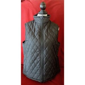 """""""North 15"""" New w/Tags Fur Lined Black Quilted Vest"""